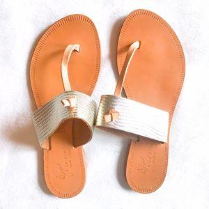 Joie | A La Plage knot metallic thong sandals